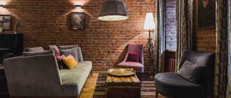 Создаем гостиную в стиле лофт: интерьер, отделка, виды освещения